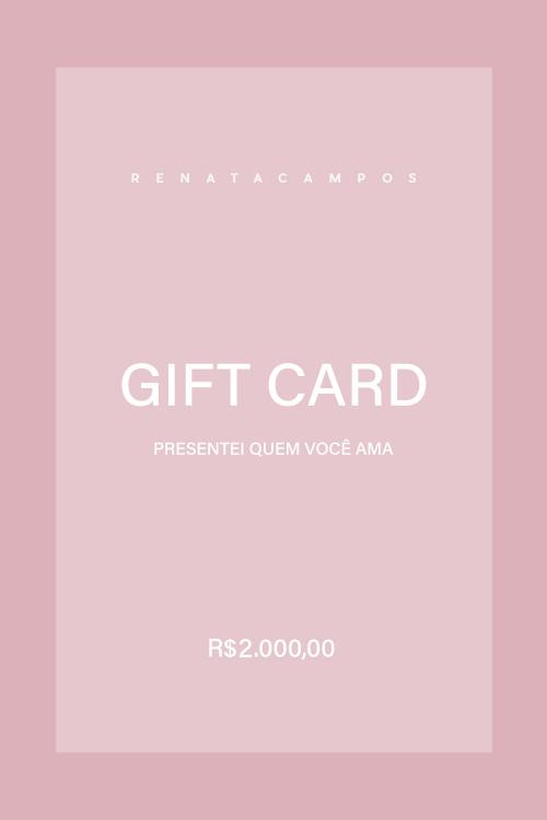 GIFT CARD R$ 2.000,00